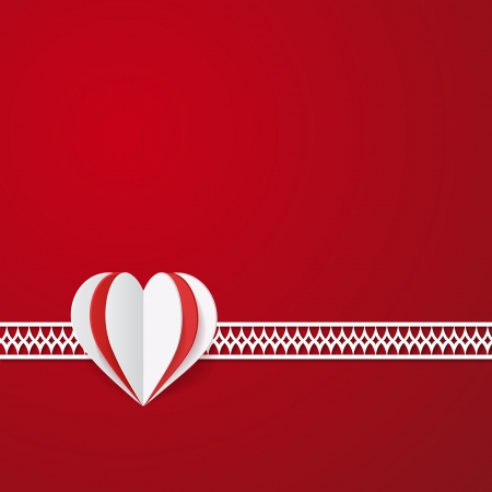 red Valentine card Vector