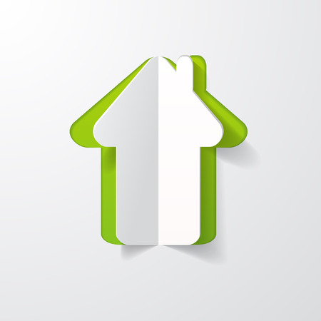 a house cut in paper Vector