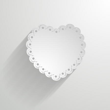 white paper lacy heart Vector