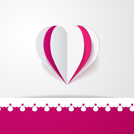 background with a border and a heart Vector