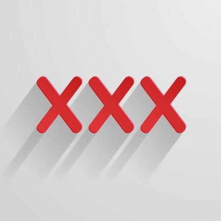 triple: triple X on white background