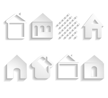 set of different paper houses Vector