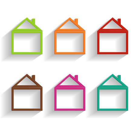 simple house: set of house icons