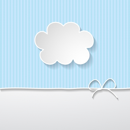 blue background with a frame in the shape of a cloud Vector
