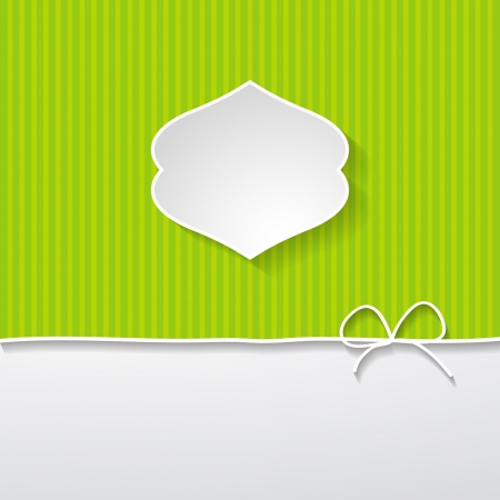 green striped background with a frame Illustration