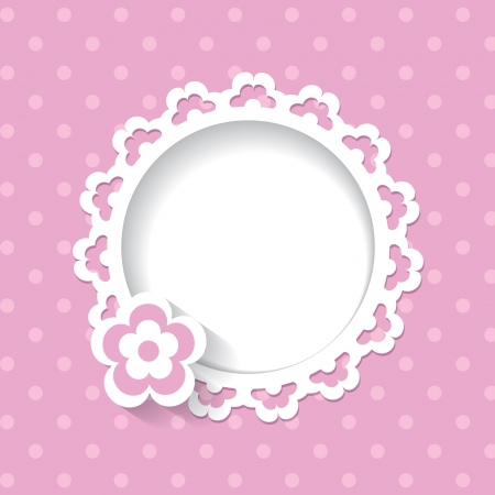 baby shower for a girl  a seamless lace and a pattern are included in the palettes  Vector