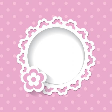 Ducha de bebé para una niña de un encaje transparente y un patrón se incluyen en las gamas de colores Foto de archivo - 25256012