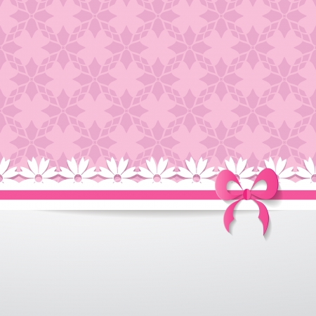 background with a pattern, a paper ribbon and a white space  Vector