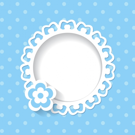 baby shower for a boy  a seamless lace and a pattern are included in the palettes  Vector