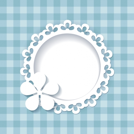 blauwe achtergrond met een frame een naadloze patroon en een naadloze kant zijn opgenomen in de paletten
