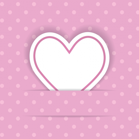 pink background with a heart Vector