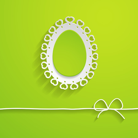 green Easter greeting card with an egg Vector