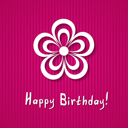 birthday card with a flower Vector