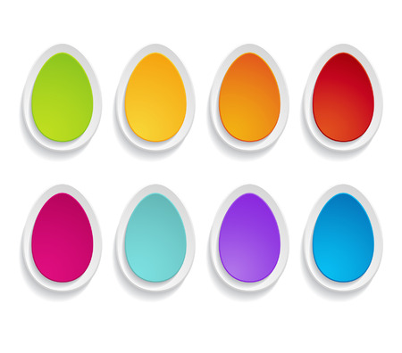 set of paper eggs Vector