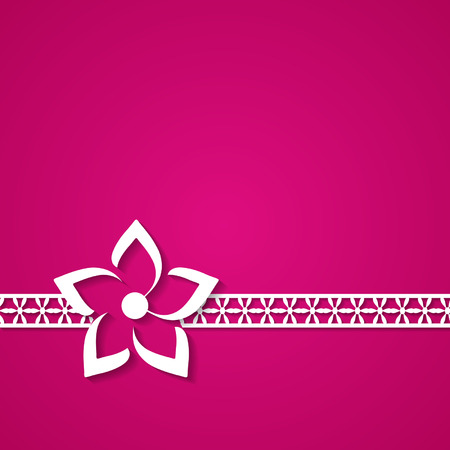 greeting card with a floral border Vector