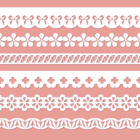 Satz von Papier Schnürsenkel Standard-Bild - 26628899