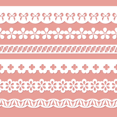 set of paper laces Vector
