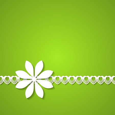 green background with a floral border Vector