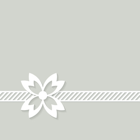 simple border: simple grey background with a border and a flower