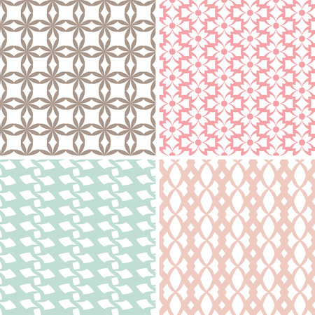 vintage baby: set of simple seamless patterns