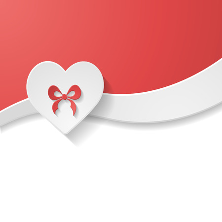 greeting card with a heart Vector