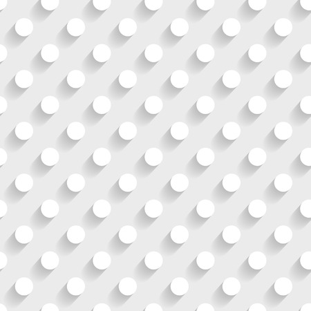 white seamless 3d background with dots Vector