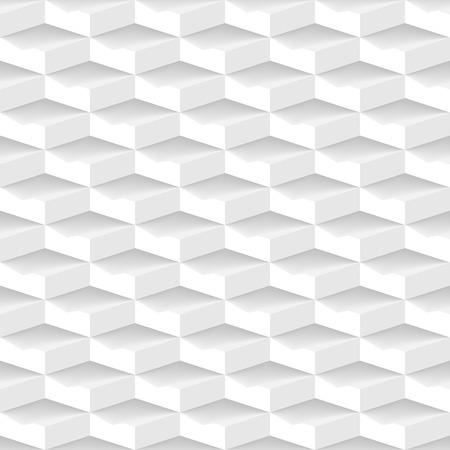 white 3d geometric seamless pattern Vector