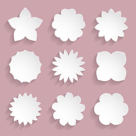 paper floral frames Illustration