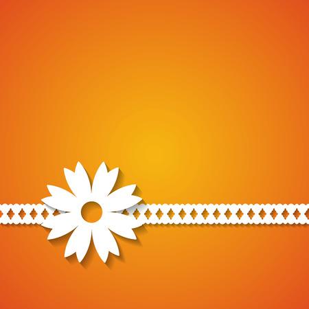 orange floral background