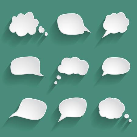紙のスピーチの泡のセット