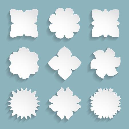 3d paper floral frames Vector