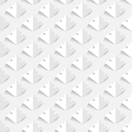 seamless paper: 3d seamless paper floral pattern Illustration