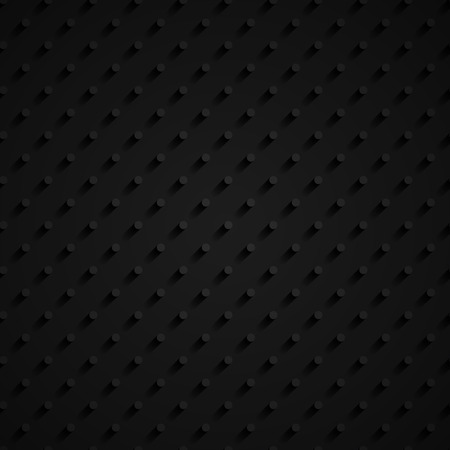 seamless paper: black 3d seamless paper pattern with circles Illustration