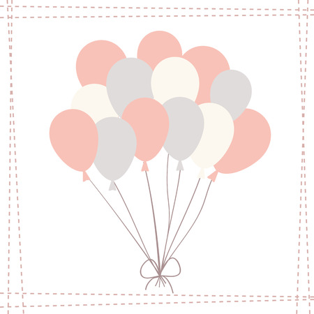 a bunch of pink balloons on the white background