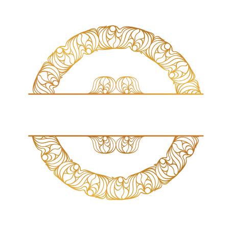 pallette: cadre doré ronde sur le fond blanc. Il y a une frontière transparente dans la pallette