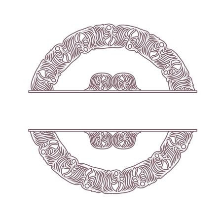 pallette: cadre ornemental. Il y a une frontière transparente dans la pallette Illustration