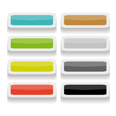 rectangular: set of long rectangular  buttons Illustration