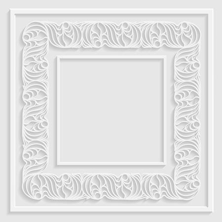 cut paper: 3d ornamental paper frame