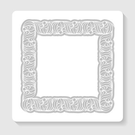 cut paper: ornamental frame cut in paper