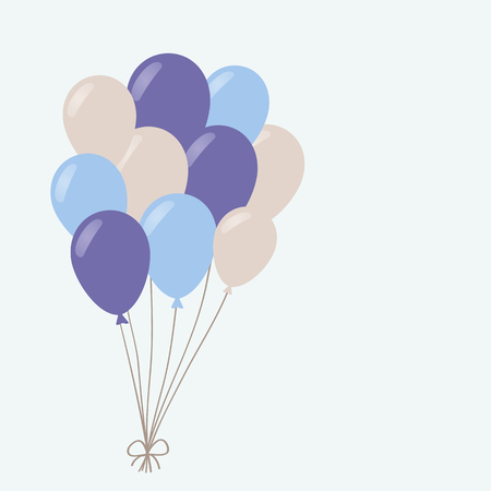 birthday greetings: un manojo de globos Vectores
