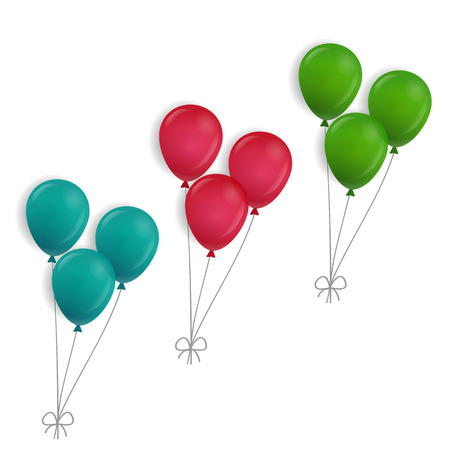 balloons: 3 bunches of balloons