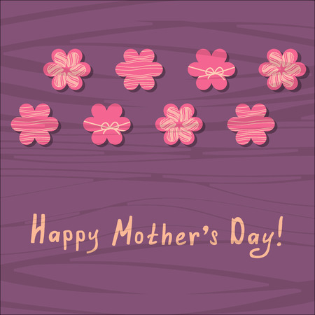 mothers day greeting card with floral ornament Иллюстрация