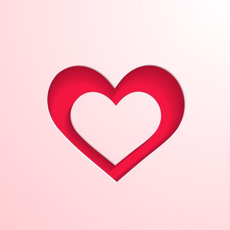 paper heart: Paper heart Illustration