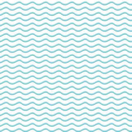 Blauw en wit naadloze patroon met golven