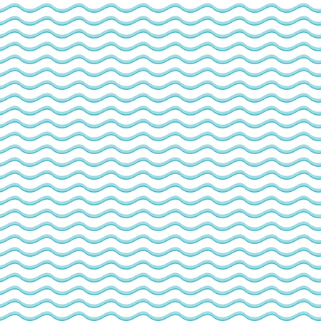 pattern: Blue and white seamless pattern with waves Illustration