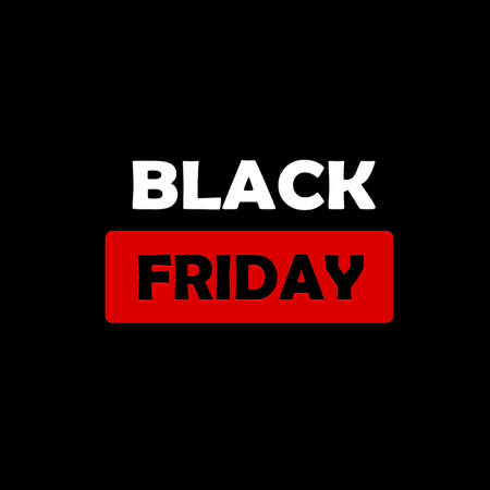 Abstract black friday sale layout on black background. Mockup brochure, banner, idea, cover, booklet, print, flyer, bookmark Stock Photo