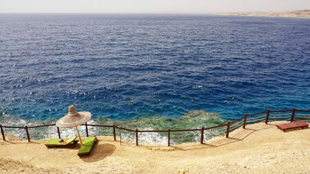 Red Sea coastline in Sharm El Sheikh, Egypt