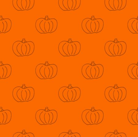 Pumpkin seamless pattern. Pumpkin background foe Harvest festival or Thanksgiving day. Halloween repeating print