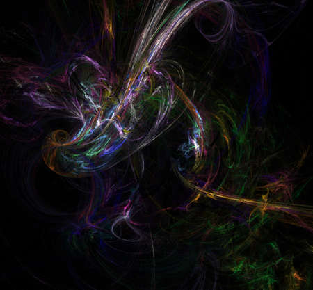 Abstract fractal art background illustration space geometry. Background consists of fractal multicolor texture and suitable for use in projects imagination, creativity and design.