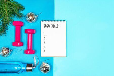 Lista de objetivos para las vacaciones de año nuevo.